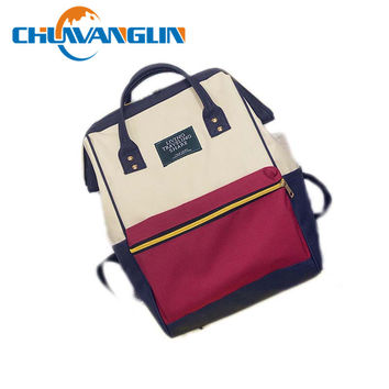 Chuwanglin Canvas Printing Backpack Women School Bag Teenage Girls Cute Bookbag Vintage Laptop Backpacks Female hand bag ZDD7253