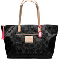 COACH LEGACY WEEKEND SIGNATURE NYLON EAST/WEST ZIP TOP TOTE - All Handbags - Handbags & Accessories - Macy's