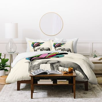 Eric Fan Color Burst Duvet Cover