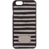 Michael Kors Glitter Stripe Iphone 6 Plus Snap On Case