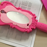 3D Barbie Doll Pink Mirror For Samsung Galaxy S4 S5 & S6