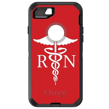 DistinctInk™ OtterBox Defender Series Case for Apple iPhone or Samsung Galaxy - RN Registered Nurse Symbol