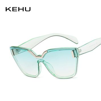 KEHU 2018 New Sunglasses High Quality Cat Eye Sunglasses Women Square Frame Glasses Brand Desig Classic Cat Eye Glasses K9363