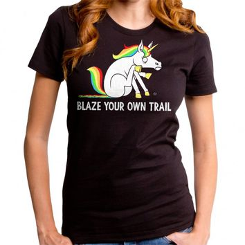 Goodie Two Sleeves Women's Blaze Your Own Trail T-Shirt - Black
