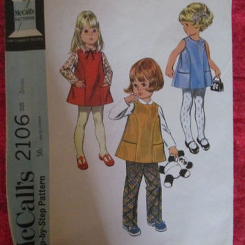 Spring Fever Sale 1960's McCall's Sewing Pattern! Size 6 Months, Infants/Toddlers, Blouse/Jumper/Dress/Shirt/Pants, Summer and Spring, Tunic