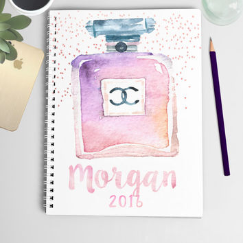 2016 Personalized Planner (Watercolor Cosmetic Cover)