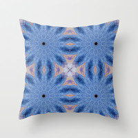 Blue Sunburst Flowers Throw Pillow by 2sweet4words Designs | Society6