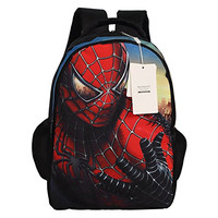 Seamand® Newest Spiderman Style Backpack Large Capacity School Bag Travel Bag