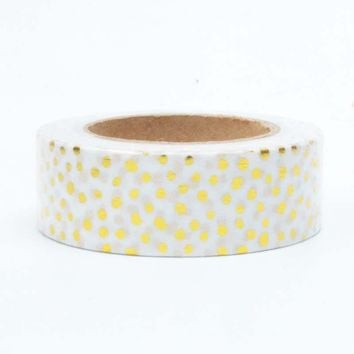Glitter Gold Foil Polka Dot 10 M Decorative Washi Tape Scrapbooking Planner Tool Cinta Adhesiva Paper Decorativa Masking Tape