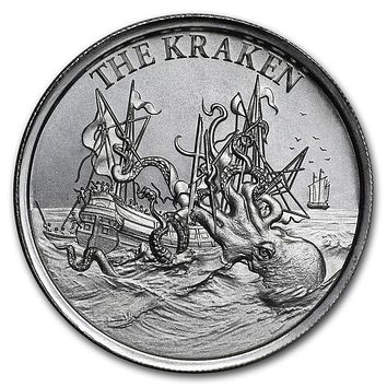 2 oz Silver High Relief Round - The Kraken