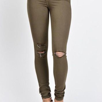 ICIKGE8 Kan Can Olive Skinny Jeans
