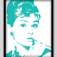 8 x 10 Wall Decor Print, Modern Home Decor-Audrey Hepburn