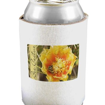 Bee Cactus with Text Can / Bottle Insulator Coolers