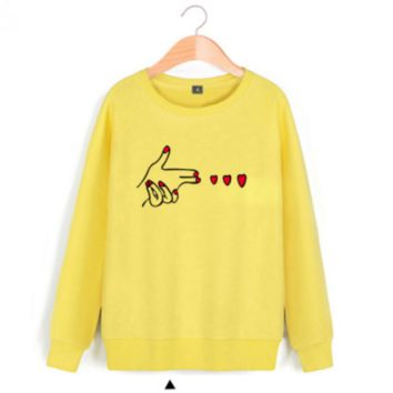 Loose set sweater big yards of girlfriends hand Yellow