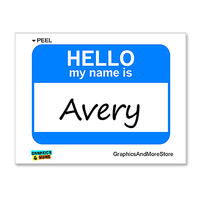 Avery Hello My Name Is Sticker