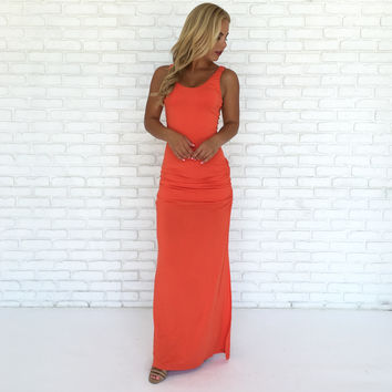 Shainnon Maxi Dress in Coral by SKY
