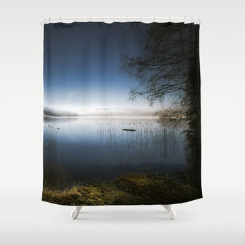 The frame Shower Curtain by HappyMelvin