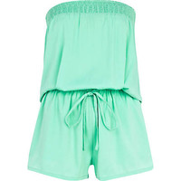Light green bandeau waisted playsuit