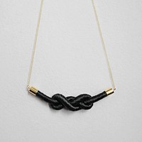 Black Zee Rope Necklace | BRIKA - A Well-Crafted Life