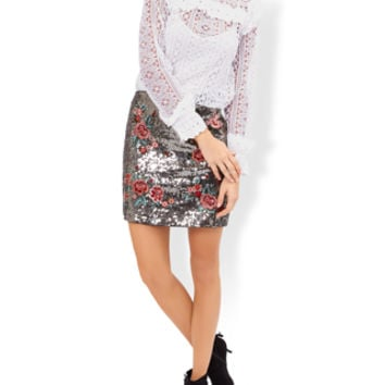 Monsoon | Lacey Victoriana Lace Frill Blouse | Ivory