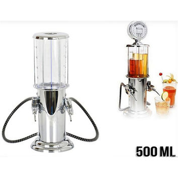 Gas Station Design Double Gun Liquor Beer & Beverage Dispenser 500ML