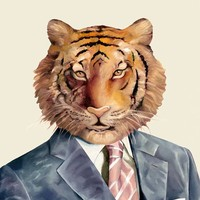 """Tiger"" - Art Print by Animal Crew"