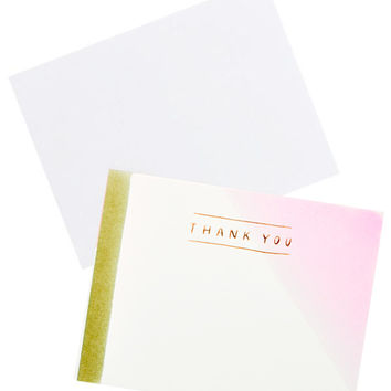 Dipped Thank You Card