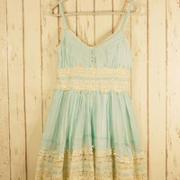Got a Date Mint Lace Dress Green