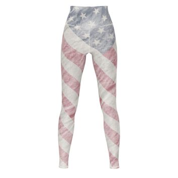 American Flag Yoga Pants Angled Flag