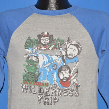80s Canadian Wilderness Trip Raglan Jersey t-shirt Small