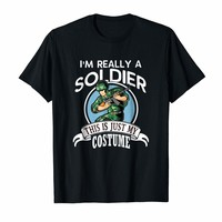 Military Soldier Halloween Costume Tshirt This Is My Costume