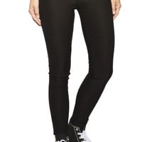 Girls Low Rise Curvy Skinny Super Stretch Jeans - Black - Jordan