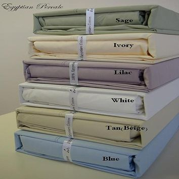 King BLUE Ultra Soft 100% Combed cotton Percale Sheet Sets