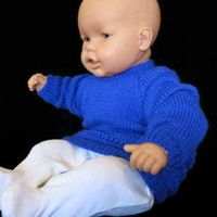 Knitted Baby Jumper, Sweater, Blue Baby Toddler Clothes