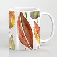 Autumn Leaves Mug by Cat Coquillette