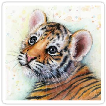 Tiger Cub Watercolor Painting