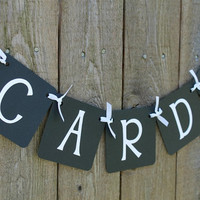 Mini Cards Banner (Black with white letters) / Wedding Reception Decor / Garland / Sign / Love Banner / Birthday Party / Party Decor