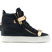 Giuseppe Zanotti Design zip detail hi-top sneakers