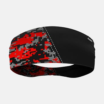 Arsenal Digi Camo Black Red Gray Headband