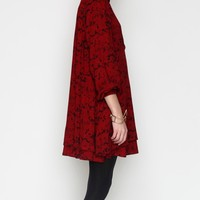 Lonely Hearts / L/S Shirt Dress In Red