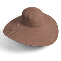Big Beautiful Solid Color Floppy Hat, Brown