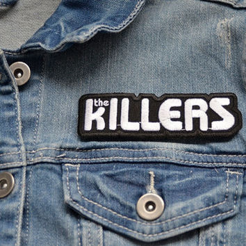 THE KILLERS Music Iron on Patch Band Vintage Embroidered Badge Pin Patches Motif Singer Songwriter Las vegas AMERICAN