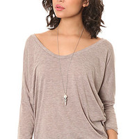 Alternative Apparel The Dolman Burnout Top in Dirty Heather : Karmaloop.com - Global Concrete Culture