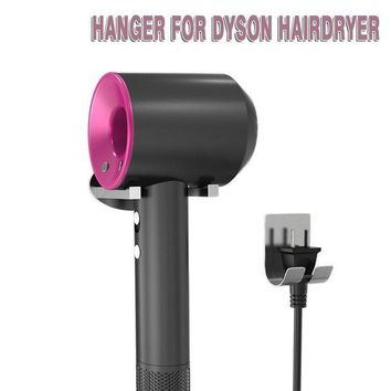 VONW3Q BMK BLUEMICKEY UPGRADED Dyson Supersonic Hair Dryer Hanger BMK Dyson Wall Mount Holder Stainless Steel Metal Plug Holder Wall Holder with Self Adhesive Hooks for Bathroom Bedroom