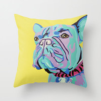 "16x16"" Throw Pillow Cover featuring a French Bulldog Portrait"
