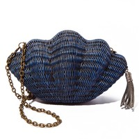 Jane Shell Clutch - Navy