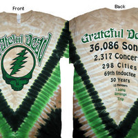 Grateful Dead Countdown Tie Dye Short Sleeve Shirt Deadhead Hippie