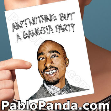 Funny Birthday Card | Tupac Shakur | Funny Greeting Cards Happy Birthday Card Rude Birthday Card 40Th Birthday Card Funny Card For Him Hip