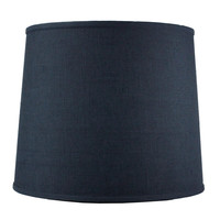 0-005358>Textured Slate Blue Drum Shade 12x14x10