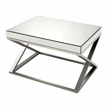 Klein-Mirror And Stainless Steel Coffee Table